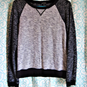 Black andf grey sweater
